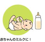 赤ちゃんのミルクに!